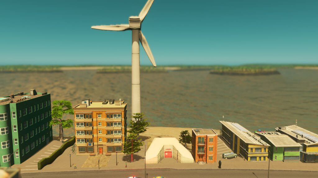 Cities:skylines 発電所が完備された小型社シェルター