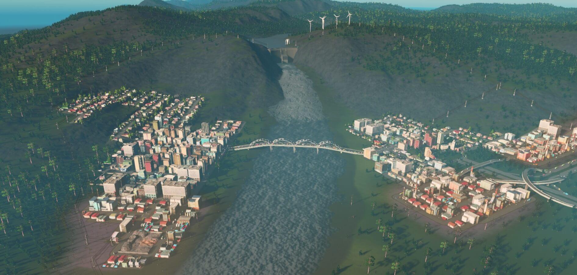 By-the-Dam 【Cities:skylines 攻略ブログ】  シナリオ バイ・ザ・ダム 65万人の都市に育てる Cities:Skylines(シティーズ:スカイライン ) 街作りシミュレーションゲーム