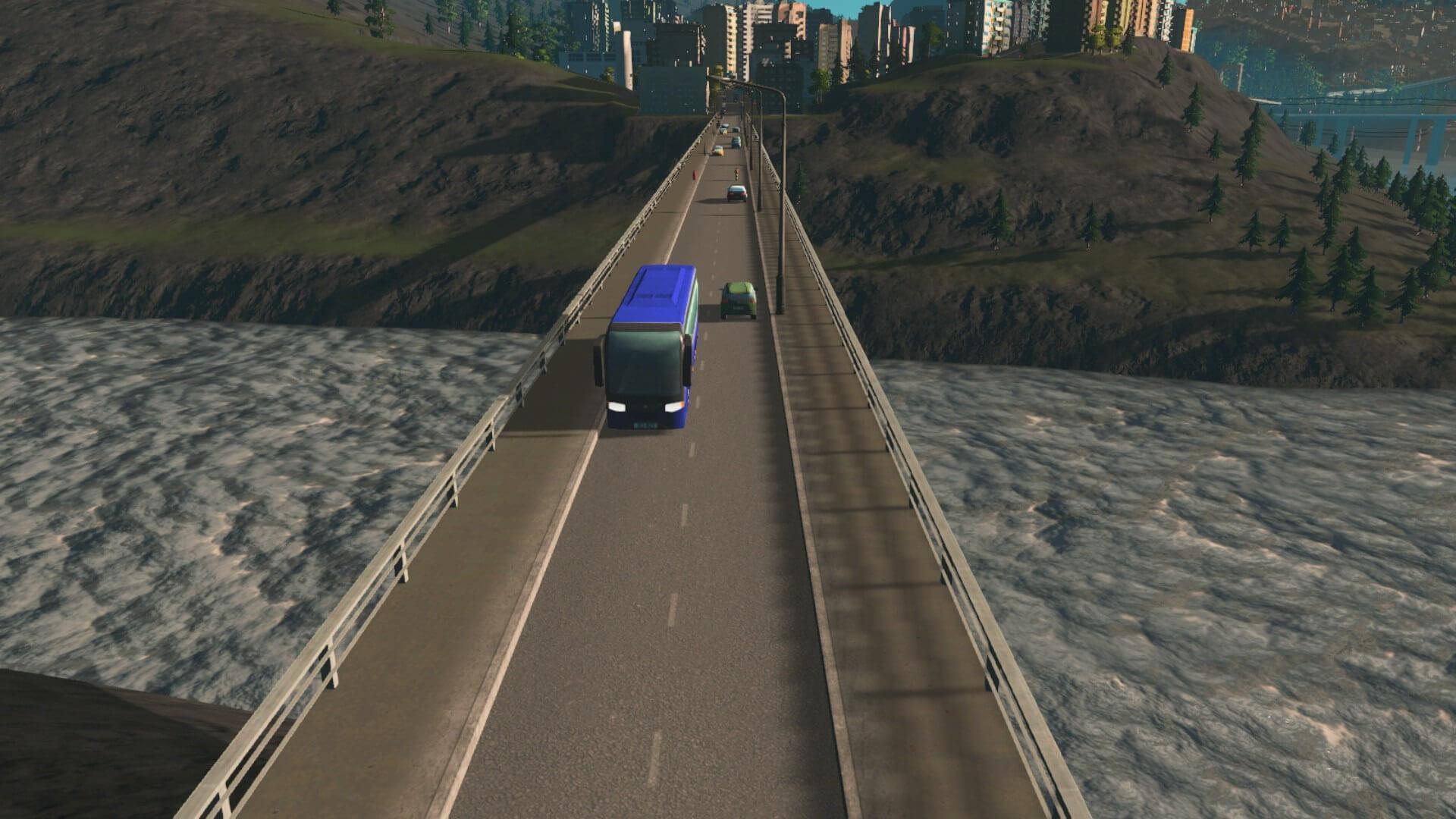 bus001-1024x576 【Cities:skylines 攻略ブログ】シナリオ アルパイン・ヴィレッジ 公共の交通機関で50万人を輸送する Cities:Skylines(シティーズ:スカイライン ) 街作りシミュレーションゲーム