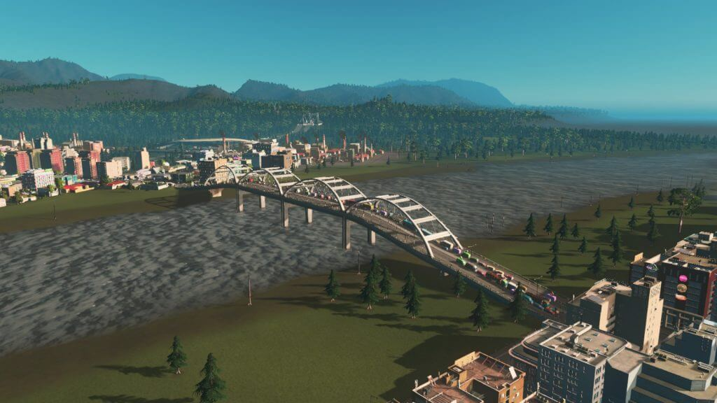 highway001-1024x576 【Cities:skylines 攻略ブログ】  シナリオ バイ・ザ・ダム 65万人の都市に育てる Cities:Skylines(シティーズ:スカイライン ) 街作りシミュレーションゲーム