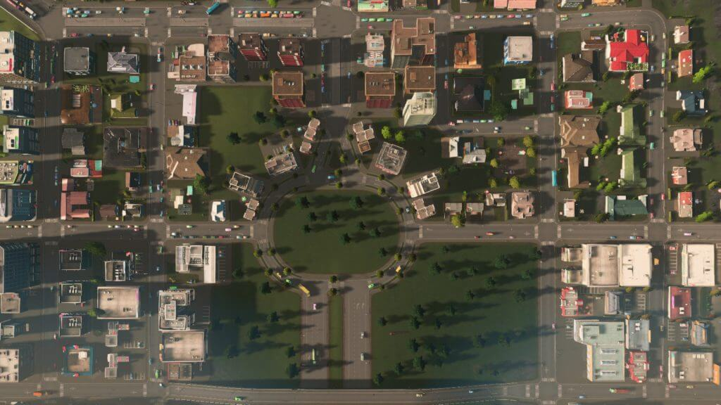 intersection-1024x576 【Cities:skylines 攻略ブログ】  シナリオ バイ・ザ・ダム 65万人の都市に育てる Cities:Skylines(シティーズ:スカイライン ) 街作りシミュレーションゲーム
