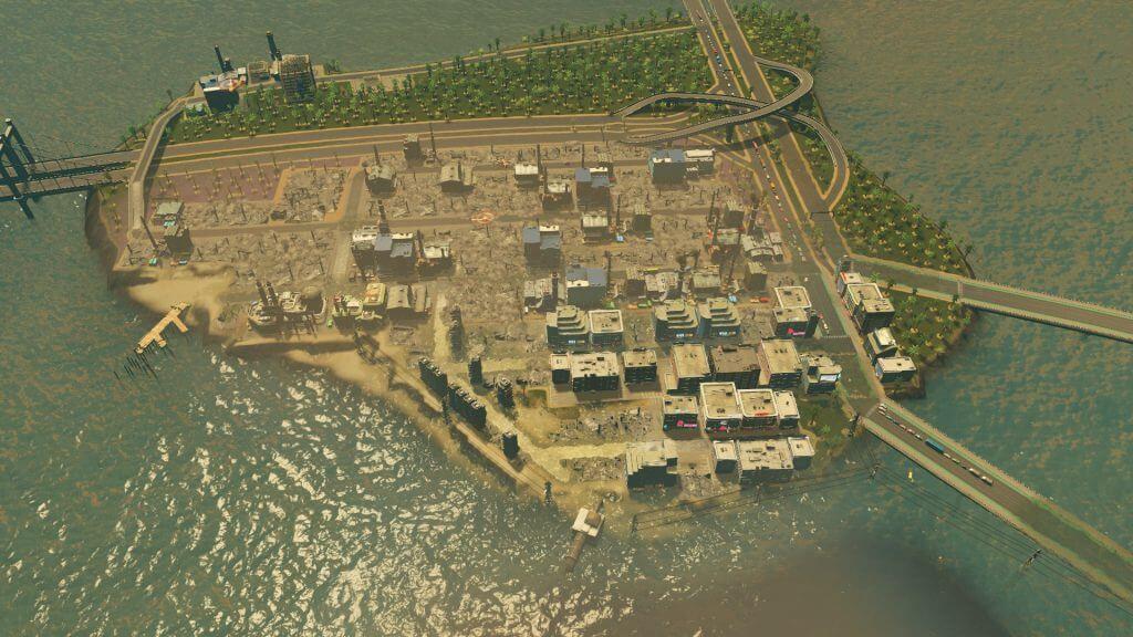 Cities:skylines 1回目の津波で壊滅した街