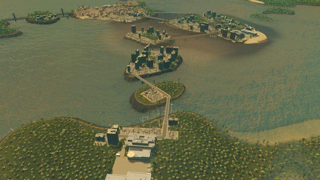 Cities:skylines 2回目の津波で壊滅した街並み