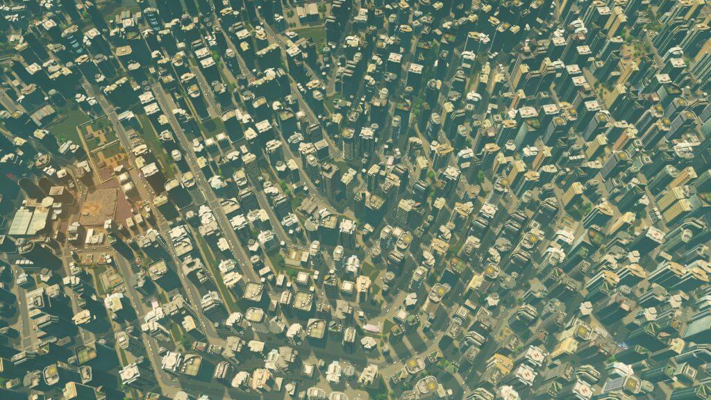 Cities:skylines 狭いところに押し込まれた住民