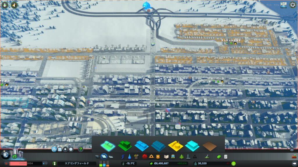 Traffic001-1024x576 【シティーズ スカイライン 攻略ブログ】 初心者の為の高速道路周辺の渋滞解消法 Cities:Skylines(シティーズ:スカイライン ) 街作りシミュレーションゲーム