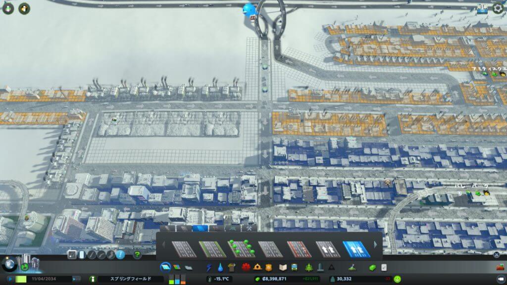 Traffic009-1-1024x576 【シティーズ スカイライン 攻略ブログ】 初心者の為の高速道路周辺の渋滞解消法 Cities:Skylines(シティーズ:スカイライン ) 街作りシミュレーションゲーム