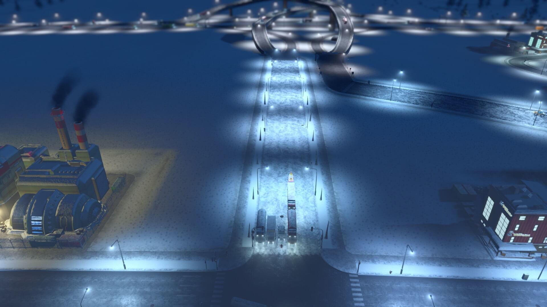 Traffic010-1-1024x576 【シティーズ スカイライン 攻略ブログ】 初心者の為の高速道路周辺の渋滞解消法 Cities:Skylines(シティーズ:スカイライン ) 街作りシミュレーションゲーム