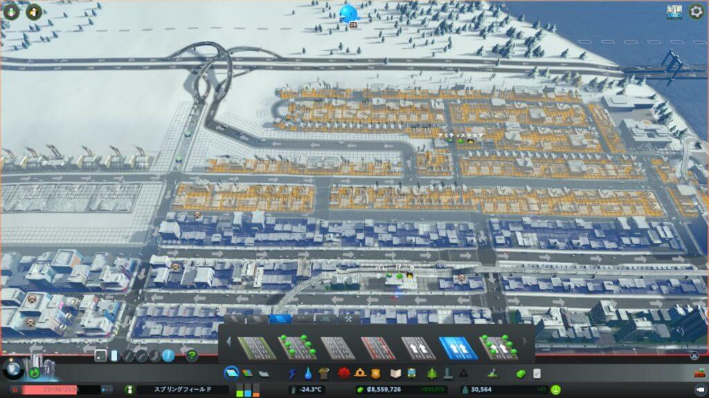 Traffic011-1-1024x576 【シティーズ スカイライン 攻略ブログ】 初心者の為の高速道路周辺の渋滞解消法 Cities:Skylines(シティーズ:スカイライン ) 街作りシミュレーションゲーム
