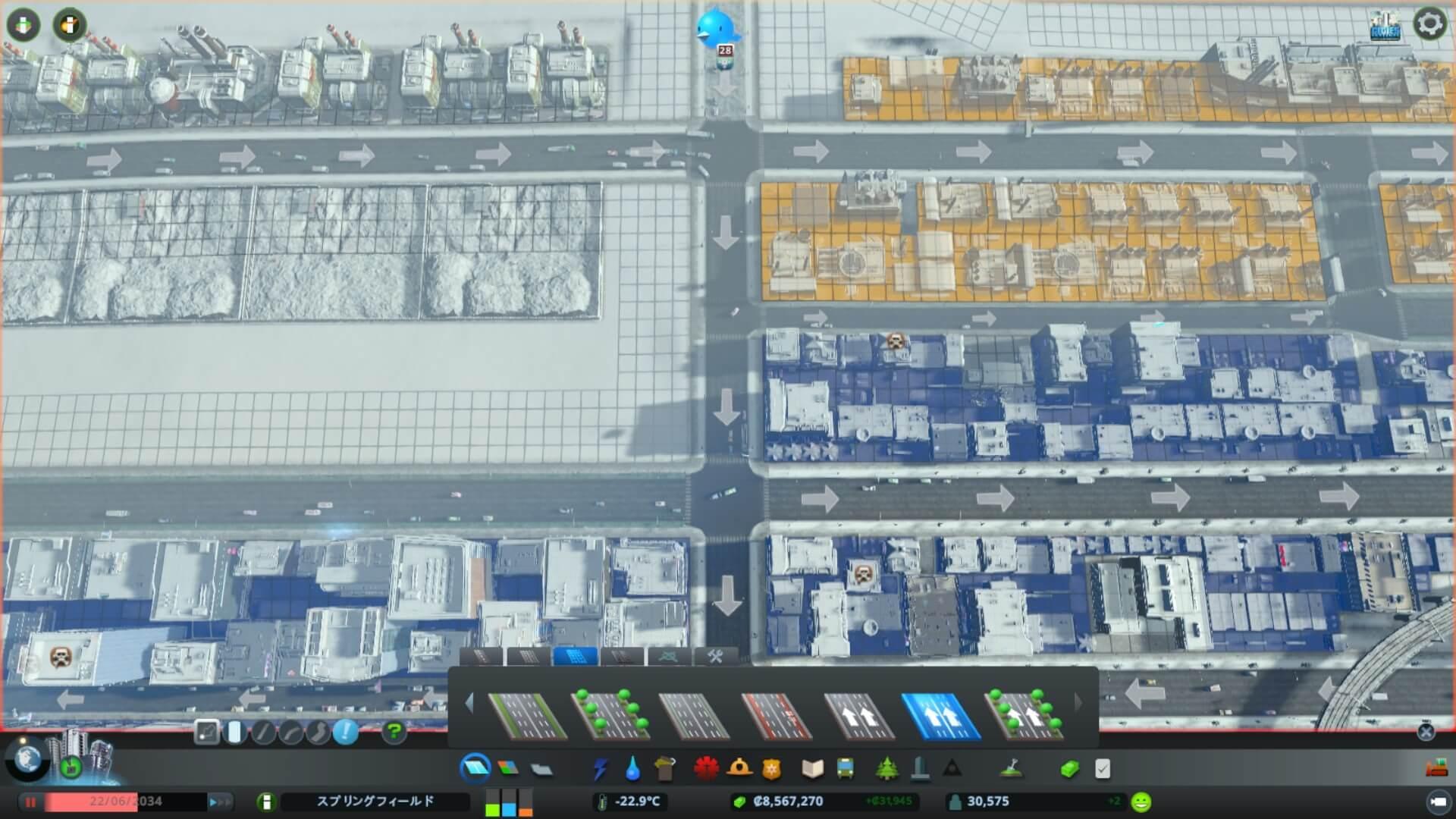 Traffic014-1-1024x576 【シティーズ スカイライン 攻略ブログ】 初心者の為の高速道路周辺の渋滞解消法 Cities:Skylines(シティーズ:スカイライン ) 街作りシミュレーションゲーム