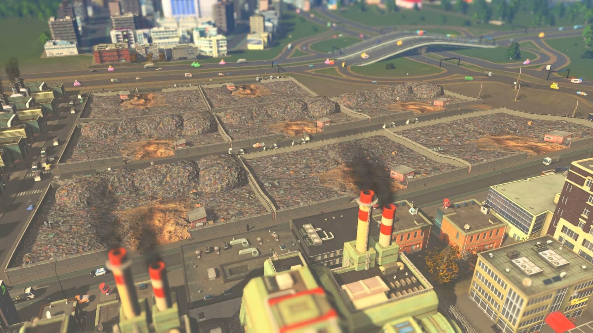 Cities:skylines ゴミ処理区画を作ろう