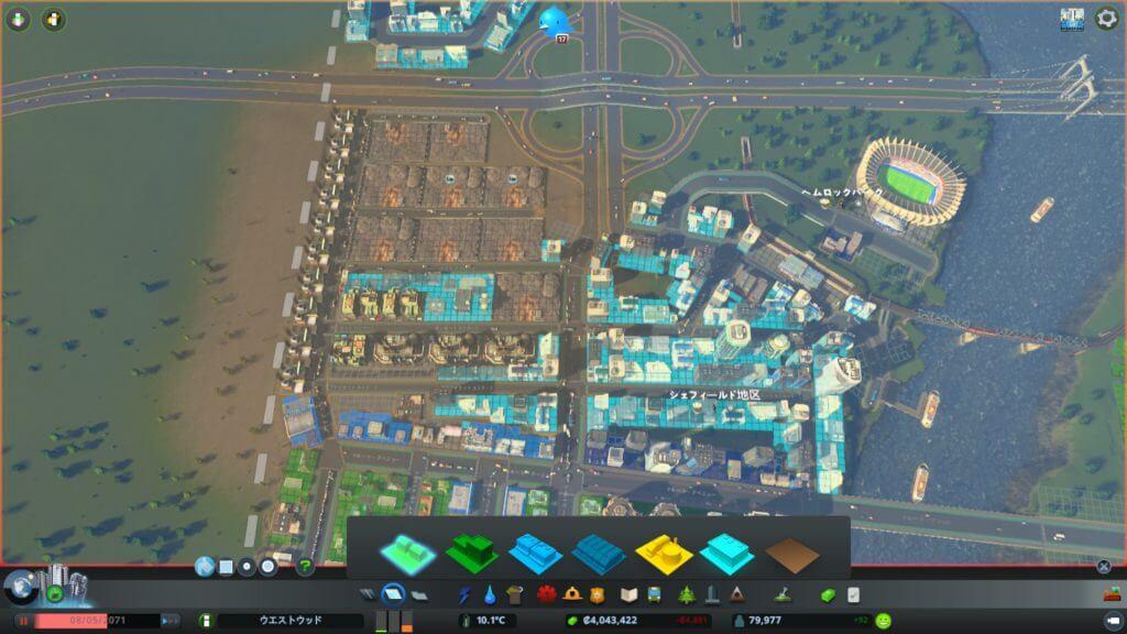 Cities:skylines 密集したゴミ処理施設