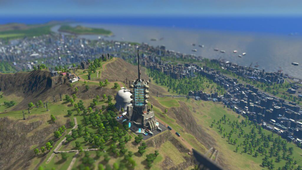 Cities:skylines 起動エレベーターを山頂に設置